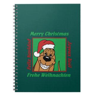 Caderno Bloodhound Weihnacht