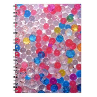 Caderno bolas da água do colore