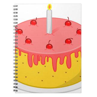 Caderno Bolo de aniversário