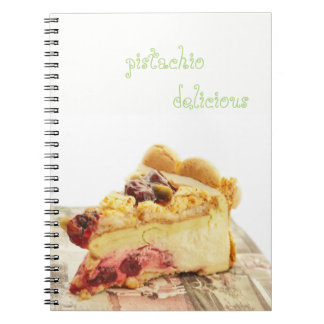 Caderno bolo do pistashio do yougyrt