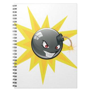 Caderno Bomba redonda má