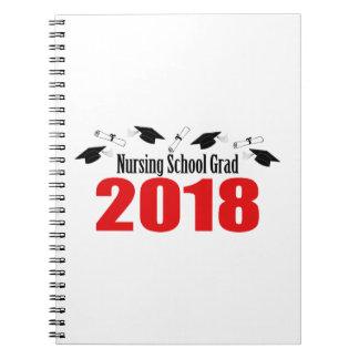 Caderno Bonés e diplomas do formando 2018 da escola de