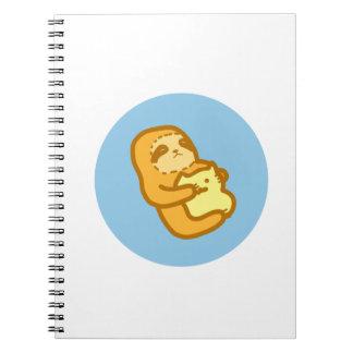 Caderno bonito da preguiça