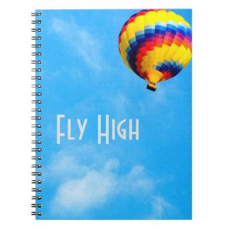 Caderno bonito do balão