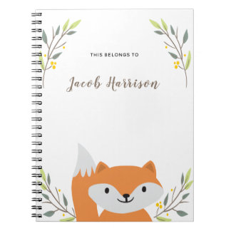 Caderno bonito do Fox
