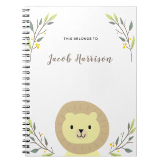 Caderno bonito do leão