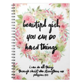 Caderno bonito do rosa do rosa do 4:13 dos