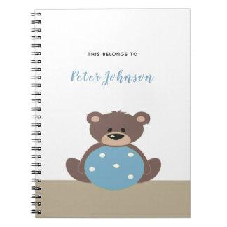 Caderno bonito do urso de ursinho