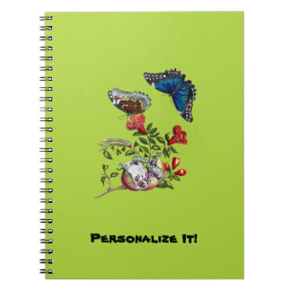 Caderno Borboletas na romã