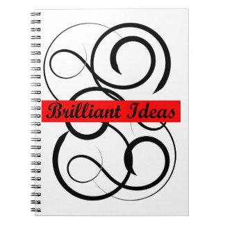 Caderno brilhante das ideias