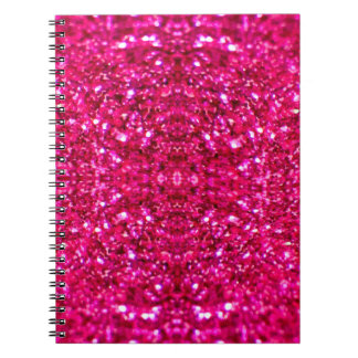 Caderno brilho do rosa quente
