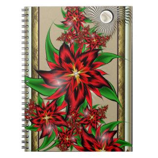 Caderno Buquê vermelho