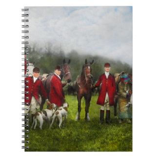 Caderno Caçador - a caça de raposa - Registro-ho 1924