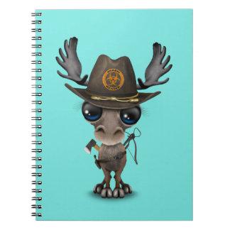Caderno Caçador do zombi dos alces do bebê
