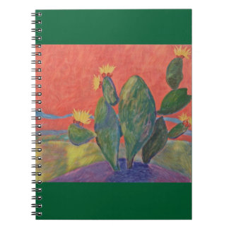 Caderno Cacto do por do sol