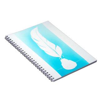 Caderno caderneta de pluma
