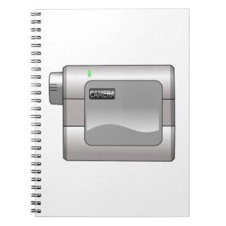 Caderno Câmara de vídeo