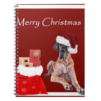 Caderno Cão great dane do Natal