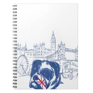 Caderno cão no Reino Unido