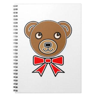 Caderno Cara engraçada do urso