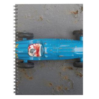 Caderno Carro azul do brinquedo