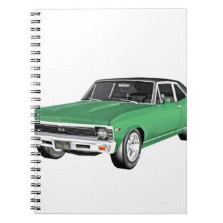 Caderno Carro verde do músculo 1968