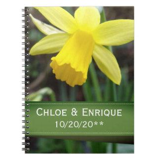 Caderno Casamento personalizado do foco Daffodil macio