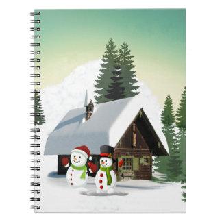 Caderno Cena do boneco de neve do Natal