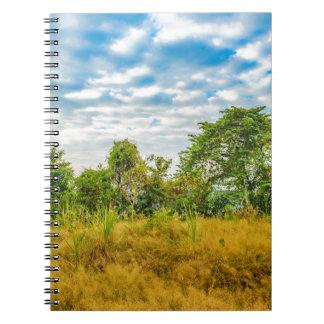 Caderno Cena tropical da paisagem do prado, Guayaquil