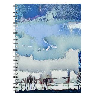 Caderno Céu colorido do horizonte do abstrato do azul do