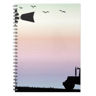 Caderno Céu da manhã da fazenda