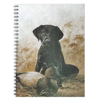 Caderno Chamariz do cão de pássaro do filhote de cachorro