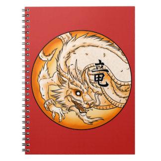 Caderno chinês da foto do dragão (80 páginas B&W)