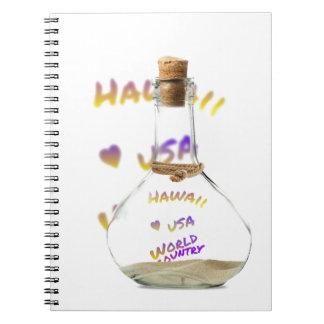 Caderno Cidade do mundo de Havaí, garrafa de água