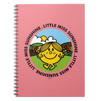 Caderno Círculo pequeno da luz do sol da senhorita Luz do