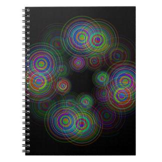 Caderno Círculos geométricos abstratos