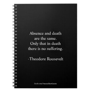 Caderno Citações de Teddy Roosevelt - ausência & morte