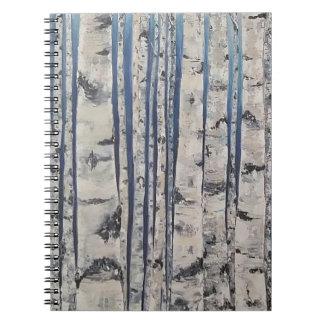 Caderno Código Morse das árvores de vidoeiro