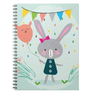 Caderno Coelho cinzento - deixa o partido