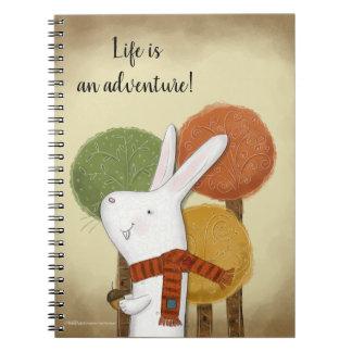 Caderno Coelho da floresta com bolota