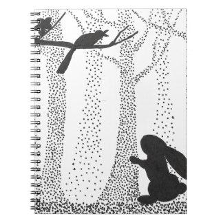 Caderno Coelho e pássaro