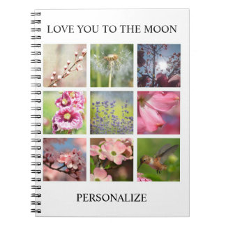 Caderno Colagem personalizada das fotos com seu texto