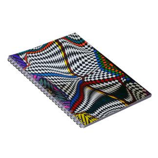 Caderno colorido da ilusão óptica