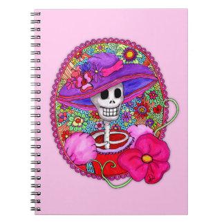 Caderno Espiral Caderno colorido de Catrina do mexicano