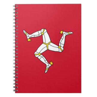 Caderno com a ilha da bandeira do homem, Reino