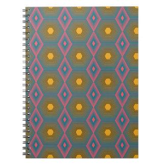 Caderno com design funky do octagon