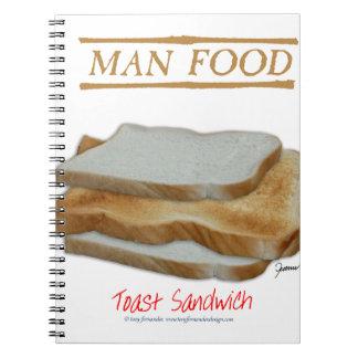 Caderno Comida do homem de Tony Fernandes - sanduíche do