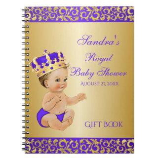 Caderno Convidado pequeno do presente do ouro do príncipe