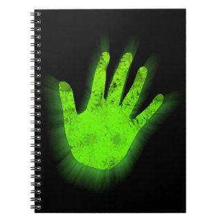 Caderno Cópia de incandescência da mão