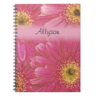 Caderno cor-de-rosa do Gerbera